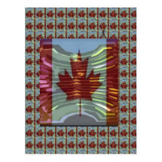 カナダのカエデの葉の旗 ポストカード