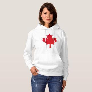 カナダのカエデの葉の赤 パーカ