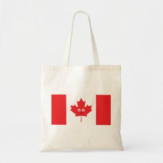 カナダのカエデの葉の顔 トートバッグ