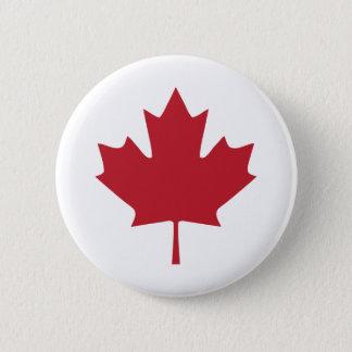 カナダのカエデの葉ボタン 5.7CM 丸型バッジ