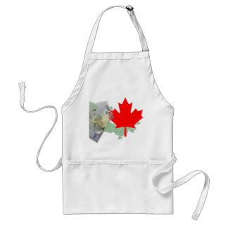 カナダのカエデの葉及びお金のエプロン スタンダードエプロン
