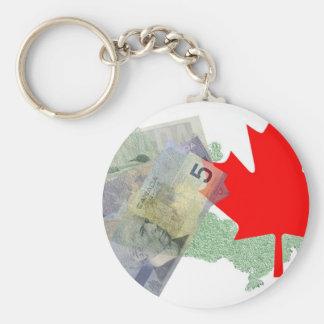 カナダのカエデの葉及びお金Keychain キーホルダー