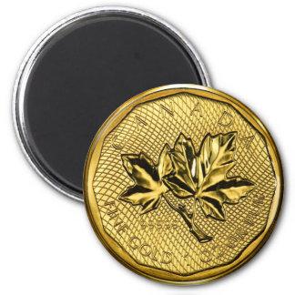 カナダのカエデの葉1ozの金ゴールド マグネット