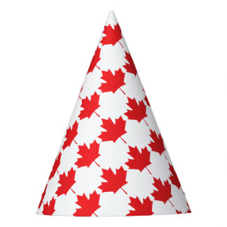 カナダのカエデの葉 パーティーハット