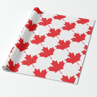 カナダのカエデの葉 ラッピングペーパー