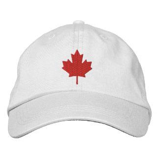 カナダのカエデの葉 刺繍入りキャップ
