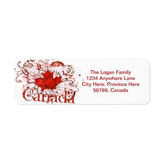 カナダのカスタムな差出人住所ラベル 返信用宛名ラベル