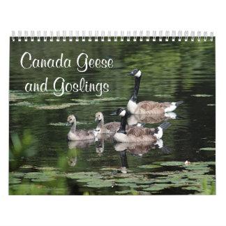 カナダのガチョウおよびがちょうの子 カレンダー