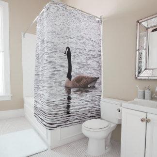 カナダのガチョウ シャワーカーテン