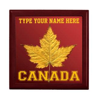 カナダのギフト用の箱のカスタムな学校代表のカナダの宝石箱 ギフトボックス