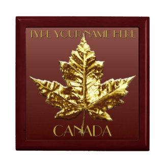 カナダのギフト用の箱のカスタムな金ゴールドのカナダの宝石箱 ギフトボックス