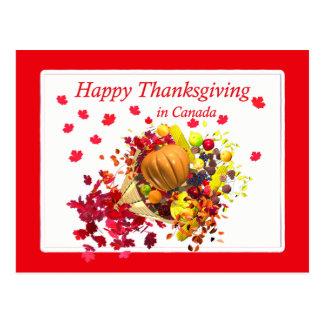 カナダのコルヌコピアの幸せな感謝祭 ポストカード