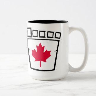 カナダのサスカッチのマグ ツートーンマグカップ