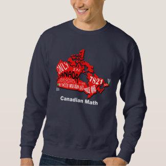 カナダのスエットシャツの地図 スウェットシャツ
