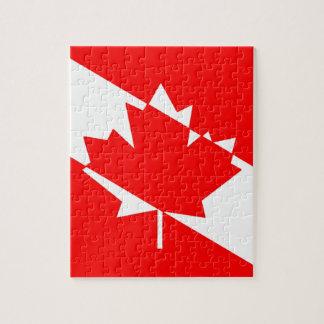 カナダのスキューバダイバーの旗 ジグソーパズル
