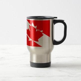 カナダのスキューバダイバーの旗 トラベルマグ
