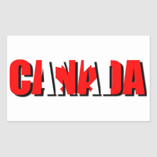 カナダのステッカー 長方形シール