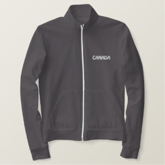 カナダのスポーツジャケット及びカナダの記念品のフード付きスウェットシャツ 刺繍入りジャケット