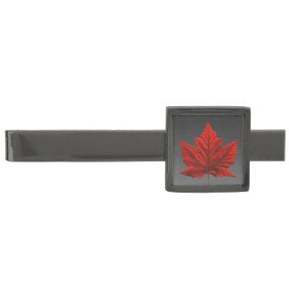 カナダのタイクリップカナダのカエデの葉のタイクリップカスタム ガンメタル タイバー
