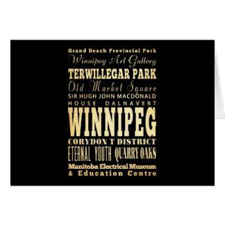 カナダのタイポグラフィの芸術のウィニペグ都市 カード
