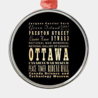 カナダのタイポグラフィの芸術のオタワ都市 メタルオーナメント