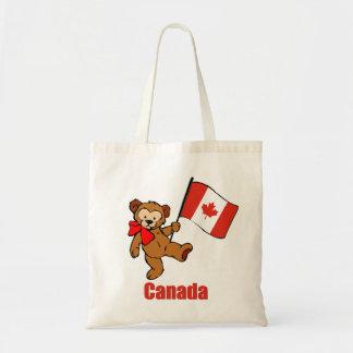 カナダのテディー・ベア トートバッグ