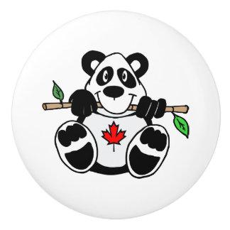 カナダのパンダの引出しの引き セラミックノブ