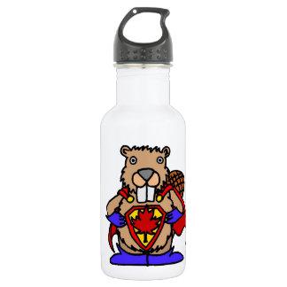 カナダのビーバーのスーパーヒーロー ウォーターボトル