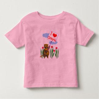 カナダのビーバーはオンタリオを愛します トドラーTシャツ