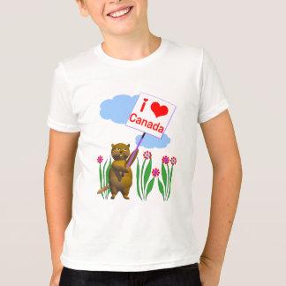 カナダのビーバーはカナダを愛します Tシャツ