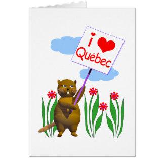 カナダのビーバーはケベックを愛します カード