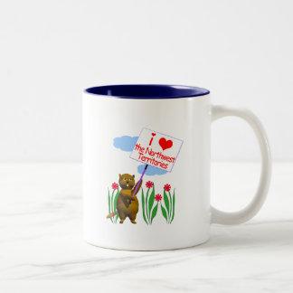 カナダのビーバーはノースウェスト準州を愛します ツートーンマグカップ