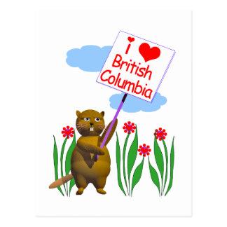 カナダのビーバーはブリティッシュ・コロンビアを愛します ポストカード