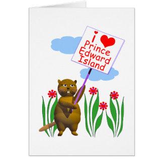 カナダのビーバーはプリンス・エドワード・アイランドを愛します カード
