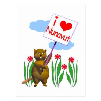 カナダのビーバーはNunavutを愛します ポストカード
