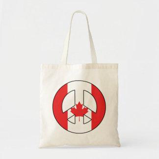 カナダのピースサイン トートバッグ