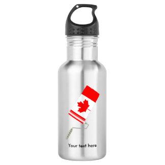 カナダのペンキローラーの旗 ウォーターボトル