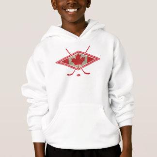 カナダのホッケーの旗のロゴのフード付きスウェットシャツ