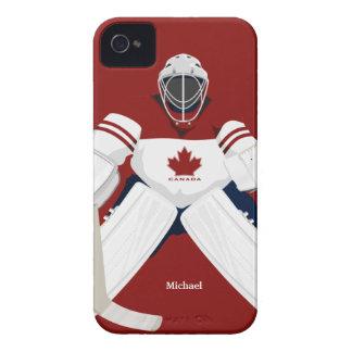 カナダのホッケーチームのゴールキーパーのブラックベリーのはっきりしたな箱 Case-Mate iPhone 4 ケース