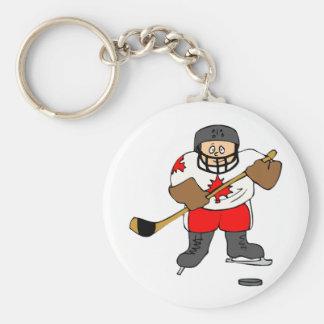 カナダのホッケー選手 キーホルダー