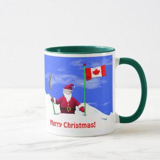 カナダのメリークリスマスサンタ マグカップ