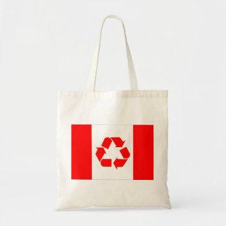 カナダのリサイクルの旗のバッグ トートバッグ