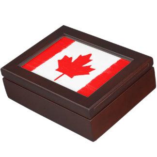 カナダのワックスの鉛筆は旗をスケッチしました ジュエリーボックス