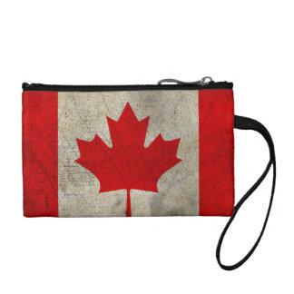 カナダのヴィンテージのグランジな旗 コインパース