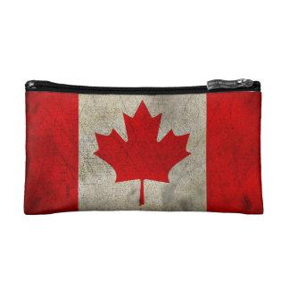 カナダのヴィンテージのグランジな旗 コスメティックバッグ
