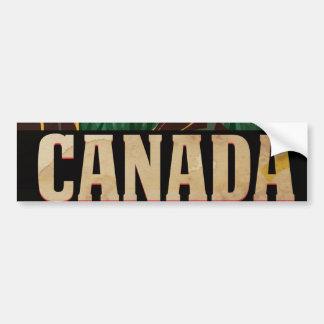 カナダのヴィンテージ旅行ポスター バンパーステッカー
