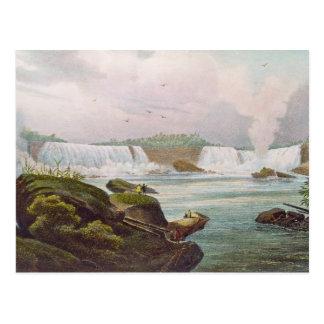 カナダの側面からのナイアガラ・フォールズの一般的な見解 ポストカード