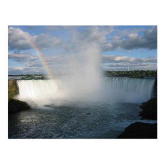 カナダの側面からの蹄鉄の滝そして虹 ポストカード