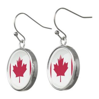 カナダの光沢のある旗 イヤリング