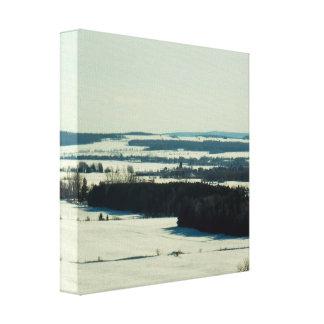 カナダの冬の景色のキャンバスのプリント キャンバスプリント